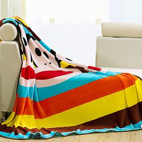 大嘴猴毛毯 加厚法莱绒毛毯珊瑚绒毯子 床单空调毯冬季盖毯枕套