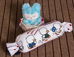 秒杀正品卡通抱枕可拆洗枕头护颈枕带枕套糖果枕可爱抱枕