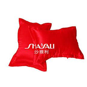 100%桑蚕丝枕套丝滑真丝枕头套缎面纯色加厚真丝枕套包邮 红色