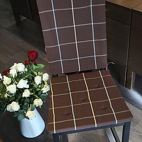 现代简约餐厅桌椅坐垫 办公室椅垫 咖啡餐椅套装 椅背盖布 椅子垫