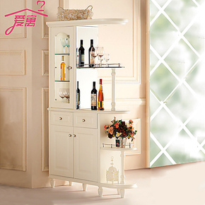 韩式吧台客厅隔断柜门厅柜间厅柜酒柜玄关柜鞋柜屏风双面现代简约