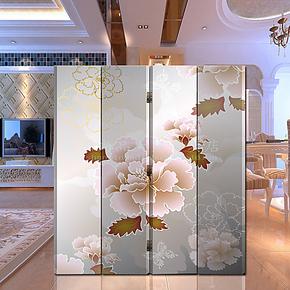现代中式 花卉屏风隔断 改善风水 办公酒店装饰(富贵花开)
