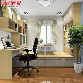 【o2o商品】尚品宅配 榻榻米书房 升降式书柜 连体电脑桌 1房5用