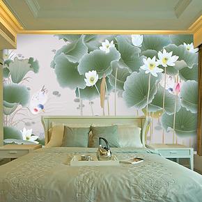 大型壁画 壁纸 装潢画 客厅 门庭 饭厅 书房电视卧室清凉荷花背景