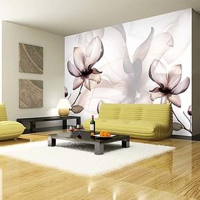 精品 大型壁画欧式卧室玄关客厅电视背景墙纸壁纸 玉兰莹花