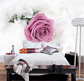 塞拉维特价大型壁画客厅电视背景墙壁纸现代简约卧室床头玫瑰墙纸