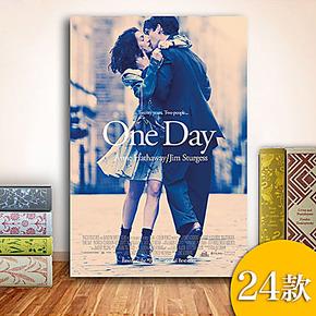 现代唯美情侣电影海报装饰画无框画卧室酒店咖啡厅墙画壁画挂画MG
