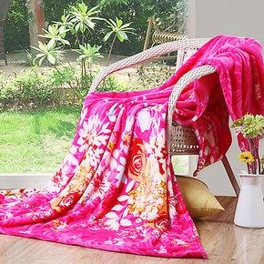 派瑞家纺 毛毯法兰绒毯子休闲毯空调毯春秋床单珊瑚绒毯特价包邮