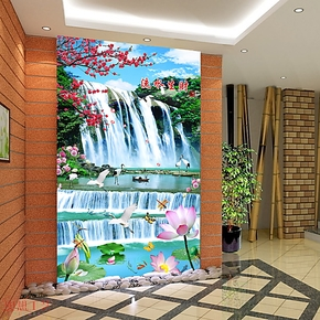 奥想大型壁画 电视墙背景 墙纸卧室玄关 电视背景墙纸壁纸M00531