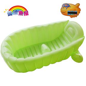 曼波鱼屋宝宝充气浴盆 婴儿洗澡盆大号 儿童小孩浴缸家庭
