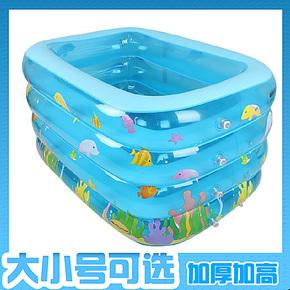 加高加厚婴儿游泳池充气超大号幼儿童宝宝游泳池成人浴缸浴盆包邮