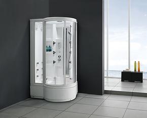 豪华卫浴单人亚克力按摩浴缸电脑蒸汽房整体淋浴房带收音按摩喷嘴