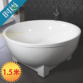 正品推荐进口双层亚克力圆形独立浴缸大尺寸双人压克力浴盆洗澡盆