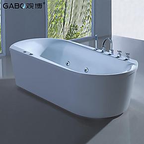 观博GBA107/独立式浴缸 亚克力/压克力浴缸 1.9米椭圆形双人浴缸