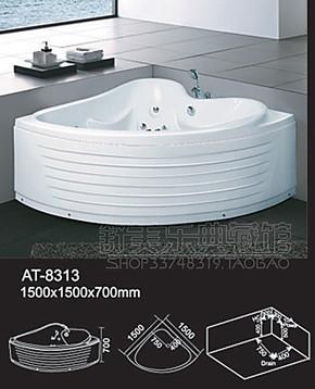 舒美乐卫浴 冲浪按摩浴缸1.5米8313亚克力双人浴盆东陶木桶压克力