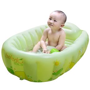 贝乐豆912025婴儿环保充气浴盆洗澡盆婴儿充气浴缸加厚加大可折叠