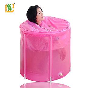 百事爽韩式成人浴盆 充气浴缸加厚折叠浴桶沐浴桶 洗澡桶/泡澡桶