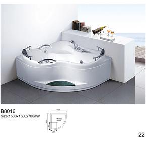 包邮亚克力珠光板珍珠白按摩浴缸冲凉五件套浴缸龙头浴缸1.5双人