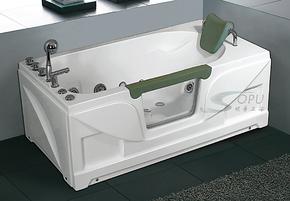 亚克力珠光板珍珠白两面裙透视窗冲浪按摩浴缸五件套龙头浴缸1.5