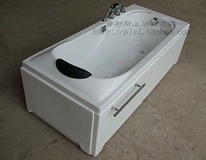 1.6米亚克力/压克力双裙五金龙头浴缸珠光板珍珠白1.4/1.5/1.7米