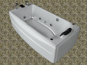 珠光板按摩浴缸/亚克力浴缸/单人珍珠白按摩冲浪浴缸
