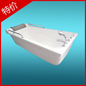 云凯浴缸 亚克力独立式 压克力带扶手浴盆 人性化设计泡澡缸A-32