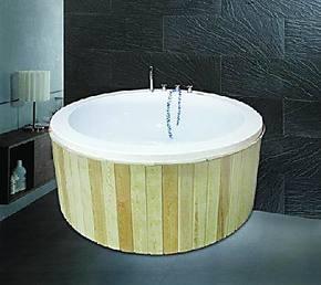 圆形亚克力冲浪按摩浴缸浴盆,户外双人浴盆可做嵌入式/1.6米内嵌