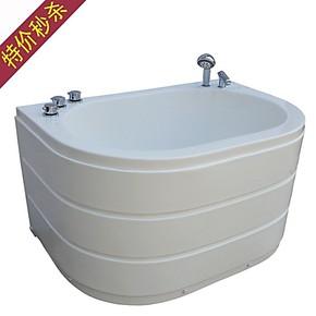 特价亚克力五件套小浴缸 裙边浴缸1米1.1米1.2米靠墙小浴室浴缸