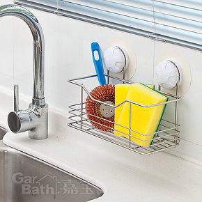 不锈钢强力浴室厨房吸盘置物架壁挂金属厕所卫生间置物架浴室挂件