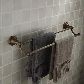 全铜纯铜 仿古复古欧式浴巾架 毛巾架毛巾杆单杆双杆特价浴室挂件