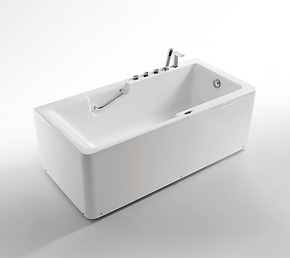 【法恩莎卫浴正品】五件套亚克力浴缸含扶手配件 FW015Q1.5米