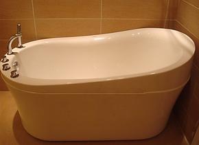 【法恩莎卫浴正品】五件套亚克力浴缸含扶手配件FW033QQ1.5米