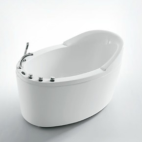 双皇冠法恩莎浴缸独立式五件套亚克力浴缸含下水FW007Q 1.3米