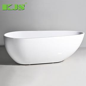 1.7米独立浴缸 高级亚克力 浴缸 多色椭圆形 时尚简约亚克力浴盆