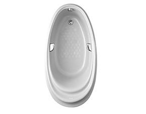 正品toto嵌入式珠光浴缸亚克力白色椭圆形保温浴盆1.6米PPY1610PW