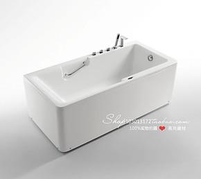 法恩莎卫浴洁具五件套浴缸FW008Q亚克力双裙边浴盆专柜正品1.7米