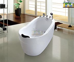 独立式 亚克力/压克力浴缸 1.3 1.5米小浴缸 可加装冲浪按摩8601