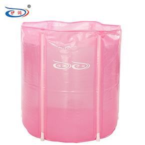 伊润 加厚省水版折叠浴桶 免充气浴缸 塑料沐浴泡澡桶 浴盆 65*65