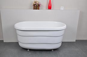 亚克力浴缸 1米小浴缸坐缸小卫生间不锈钢支架 16200掌柜推荐