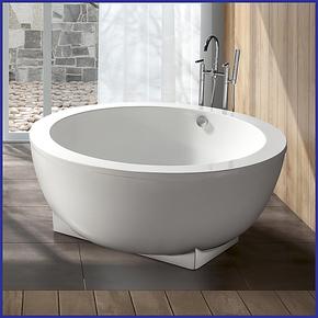 贝亚特1.5M 1.8M圆形浴缸 亚克力浴缸 贵妃浴缸 按摩 独立式 浴缸