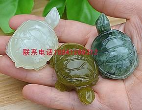 岫玉小摆件小乌龟-贵人-天然玉石岫玉乌龟玉摆件玉雕批发价