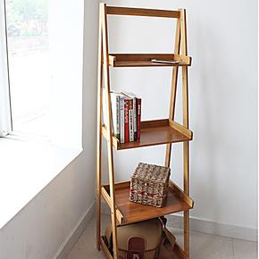 特价花架花几 花盆架梯形置物架 阳台多层花架书架实木 楠竹架子