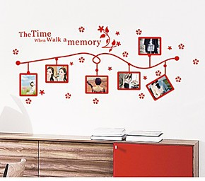 特价一起走过的时光照片贴相片贴浪漫婚房电视沙发背景装饰墙贴纸