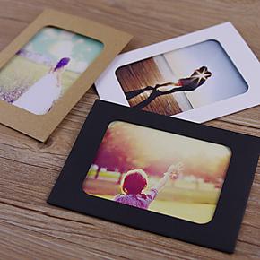 6寸DIY手工卡纸简约相框 装饰艺术复古像框 照片墙 创意礼物