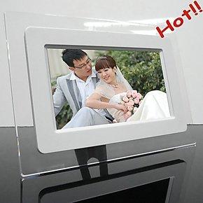 百美优 7英寸单功能数码相框 相册  电子相架 相框低价批发