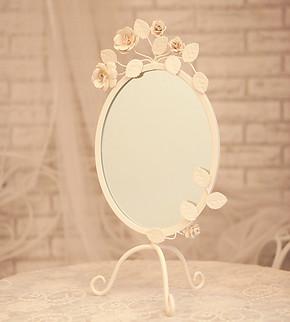 铁艺化妆镜桌面镜镜子浴室镜镜框镜架相框相架装饰架展示架立式架