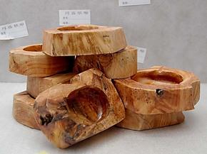 直销震撼低价 同盛根雕 天然实木烟灰盒 木制烟灰缸小号 工艺摆件
