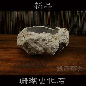 包邮小型石头花盆多肉植物金钱草水培盆中国风禅意石头蜡烛烟灰缸