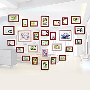 景宇 新款超大心型27框组合照片墙相框墙创意家居 赠送图片