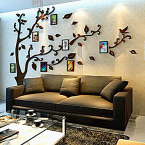 电视墙亚克力相框水晶立体墙贴沙发墙照片树照片墙卧室客厅墙饰